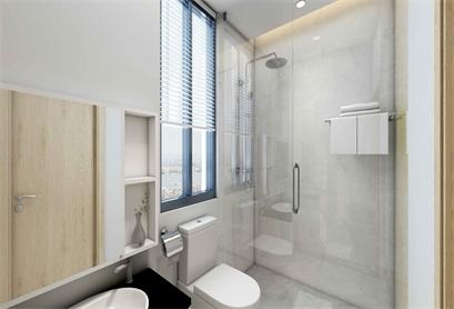 采用现代简约风,卫生间装修真的够简约大气!