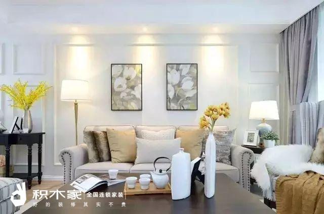135平美式三室两室装修案例-3