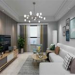 103平米三室两卫北欧冷色系风格,色彩丰富