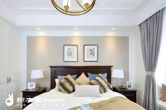135平美式三室两室装修案例-7