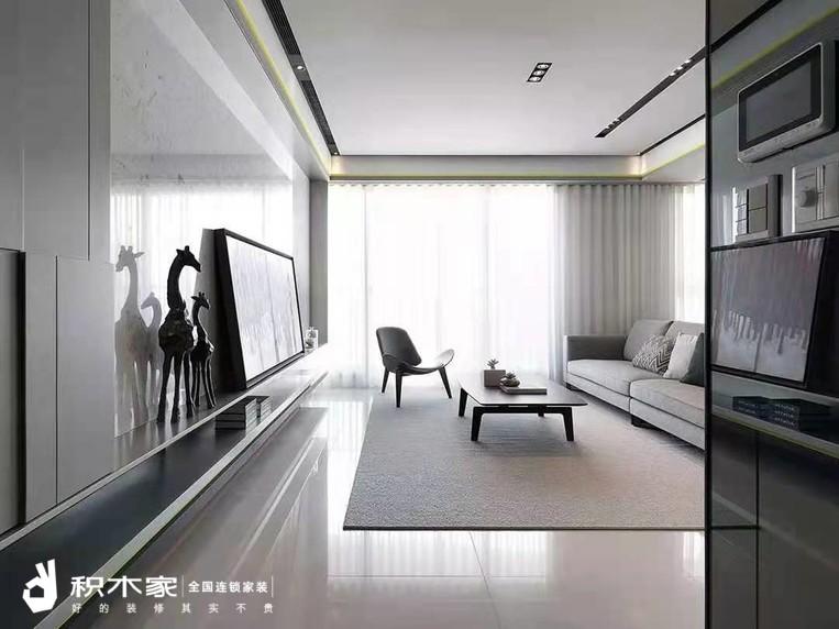 93平三室一厅现代简约w88设计案例-2