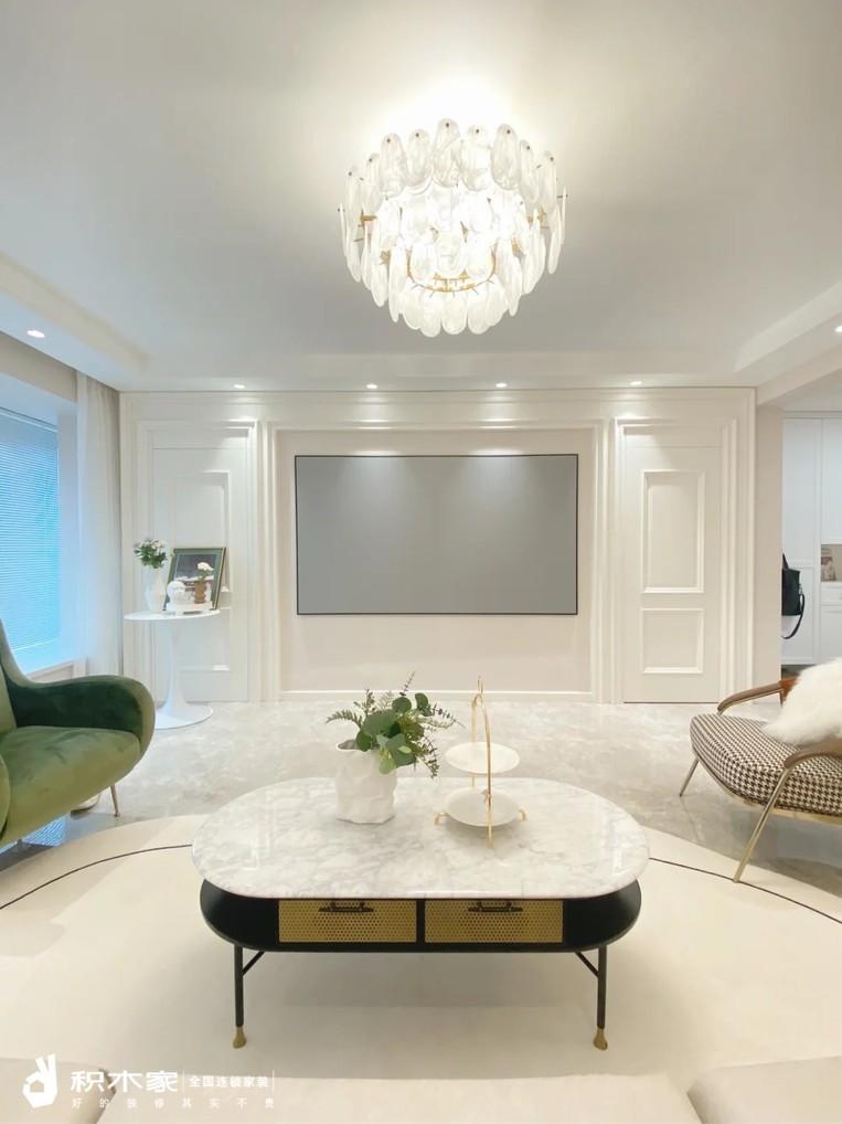 120平現代簡約輕奢風客廳裝修案例-5