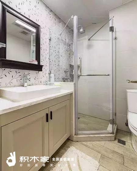 135平美式三室两室装修案例-11