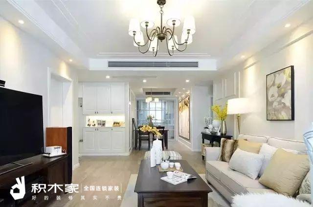 135平美式三室两室装修案例-1