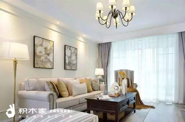135平美式三室两室装修案例-4