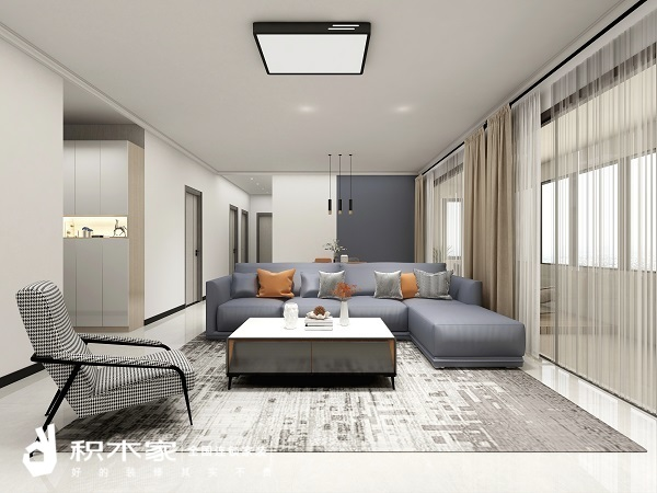90平米二居室裝修客廳設計效果圖