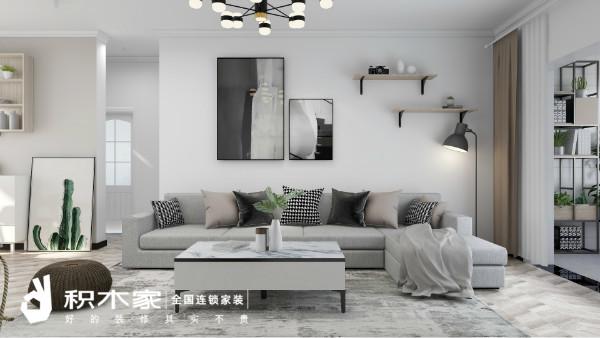 110平三居室現代極簡風格裝修案例