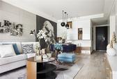 110平米两居室,色彩搭配完美的北欧风!