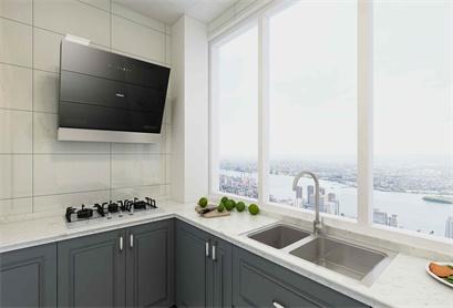 现代简约风格厨房,回归轻松生活。