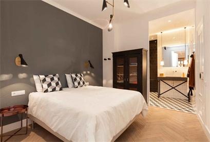 北欧装修风格的卧室,简洁干净,整体很舒适!
