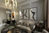 103㎡ | 现代简约 | 三室两厅 | 高贵的元素,贯穿整个空间