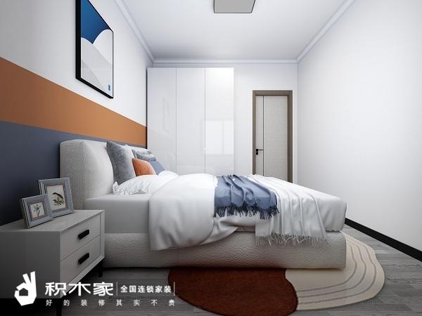 西安90平米房屋主臥設計效果圖