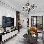 132平方现代黑白灰风格,经典的色调凸显现代人的生活态度
