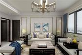 100㎡ | 新中式 | 两室两厅 | 现代与中式相结合的新东方美学