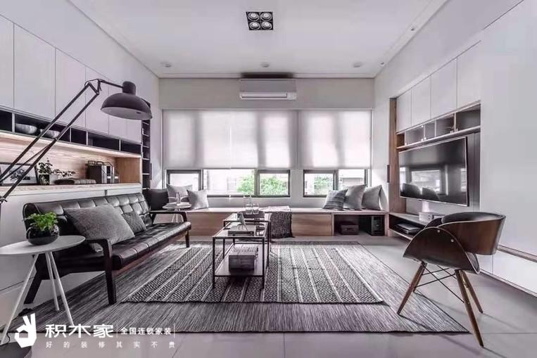 93平三室一厅现代简约w88设计案例-3